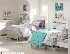 I love the PBteen Hampton Funky Peace Bedroom on pbteen.com comforter & sheets, the girl?
