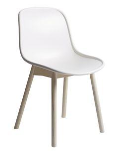 Wrong for Hay Neu Chair weiß  / Beine Esche geseift