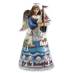 Jim Shore Heartwood Creek Coastal Angel Figurine