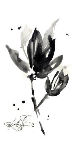 Brushstroke Floral ... Series No.9 ... by KathyMortonStanion, $22.00