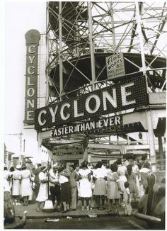 Vintage Cyclone Roller Coaster Coney Island Brooklyn Blacks NYC Modern Post Card | eBay