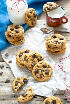 Biscotti Cookies, Cake Cookies, Coffee Biscuits, American Cake, Mini Desserts, Sweet Cakes, Chocolate, Sweet Recipes, Muffin