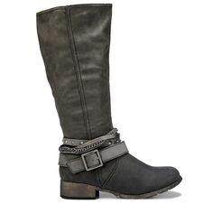 Jellypop Women's Nastia Tall Shaft Boots (Charcoal Distress)