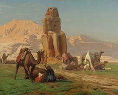 Colossus of Memnon by Jean-Leon Gerome (Jean Leon Gerome), Oil on canvas