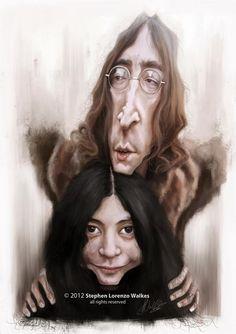 Caricaturas by Daniel Alho / John & Yoko