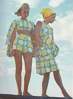 """May 1964. """"The Country Set appears in print coast to coast."""" Seventeen Magazine. 60s summer style."""