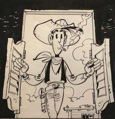 Lucky Luke a déjà plus de 70 ans ! http://www.lemonde.fr/bande-dessinee/portfolio/2016/01/28/lucky-luke-souffle-ses-70-bougies-a-angouleme_4855081_4420272.html