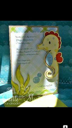 Convite Invitation Festa fundo do mar Under the sea party