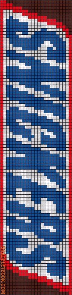 Alpha friendship bracelet pattern added by asha_xo. Loom Bracelet Patterns, Bead Loom Patterns, Friendship Bracelet Patterns, Beading Patterns, Cross Stitch Patterns, Beading Ideas, Minecraft Pattern, Pixel Pattern, Image Pixel Art