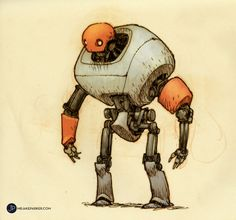 We are super excited to have Jake Parker donate a piece to Robot Envy! Jake Parker is a freelance illustrator, designer, and comic artist. He is the creator of the Missile Mouse graphic novel seri… Character Design Cartoon, Character Design References, 3d Character, Character Concept, Character Sketches, Arte Robot, Robot Art, Inspiration Art, Character Design Inspiration