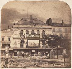 Théâtre de la Gaîté, boulevard du Temple, Paris XIe. 1862. Old Paris, Vintage Paris, Tour Eiffel, Old Pictures, Old Photos, Old Portraits, Paris Cafe, I Love Paris, Belle Epoque