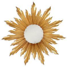 Limited Production Design: Gold Gilt Sunburst Art Mirror * Hospitality / Residential Interior Designer Discounts Available Silver Sunburst Mirror, Starburst Mirror, Round Hanging Mirror, Small Wall Mirrors, Mirror Mirror, Bronze Mirror, Mirror Glass, Versailles, Chandeliers