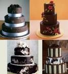 These are the prettiest chocolate wedding cakes I've ever seen!