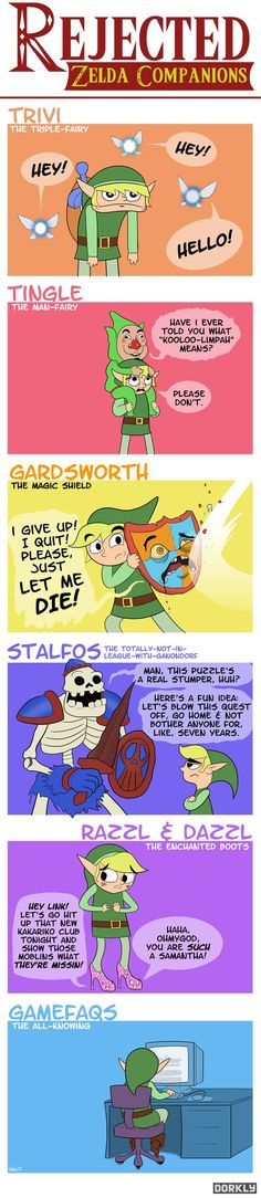 Rejected Zelda Companions  BY OWEN PARSONS AND CALDWELL TANNER / JANUARY 13, 2012