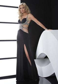 Spaghetti Strap Floor Length Elastic Satin Sheath Column Prom Dress