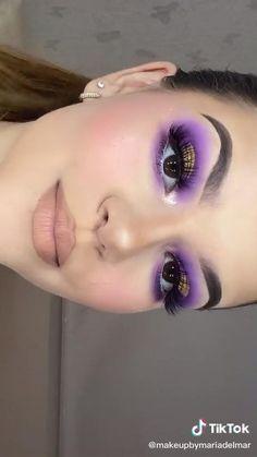 Gem Makeup, Day Eye Makeup, Bright Eye Makeup, Purple Eye Makeup, Eye Makeup Steps, Eye Makeup Brushes, Colorful Eye Makeup, Eye Makeup Pictures, Smoky Eye Makeup Tutorial