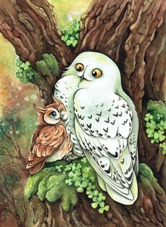 """the famous Starsingers! with the song:""""an OWL wanted to marry"""" painted with watercolor and crayons. *___* Thank you very much for the DD !!!!!!!!!!! ___________________________________ the famous S..."""