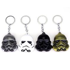 9d6a916ded6988 New Arrival 3 colors Star Wars Keychain Superhero Storm Trooper Helmet Mask Key  Chains Darth Vader Face Key Rings Movie Jewelry