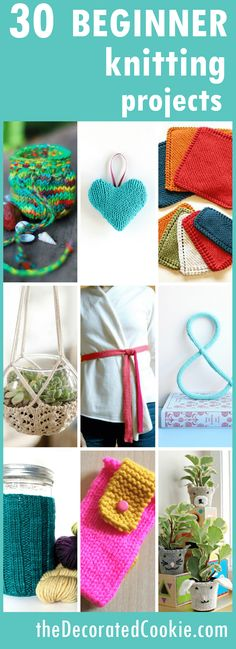 20 easy knitting projects beyond blankets and scarves -- easy knitting projects
