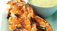 Juicy grilled Shrimp with Roasted Chile and Avocado sauce by weber....YouTube Video