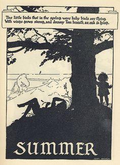 Isabel Bacheler : SUMMER Illustration for John Martin's Big Book, Volume1, 1930.