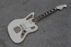 Very Rare Fender Jaguar 'Ken' Custom in Arctic White w/ | Reverb