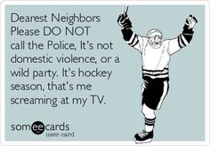 It's just hockey on the tv! Haha my life! #hockey #hockeyseason