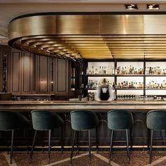 The Modern Bar Stools Your Christmas Home Decor Deserves Bar Interior Design, Hotel Room Design, Lounge Design, Restaurant Interior Design, Bar Lounge, Cafe Design, Back Bar Design, Luxury Bar, Restaurants