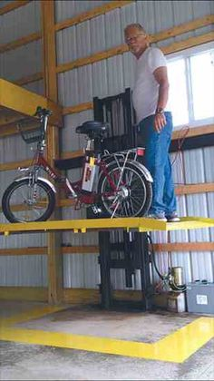 One Ohio farmer converted a forklift into a shop or barn elevator. Check out his DIY forklift elevator project for those rural Americans handy around the toolshed.