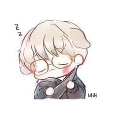 Baekhyun <credits to owner> Jimin Fanart, Kpop Fanart, Baekhyun Fanart, Chanbaek Fanart, Hunhan, Kawaii Chibi, Cute Chibi, Chibi Exo, Exo Cartoon