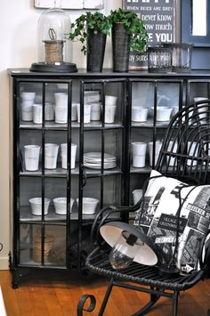 love this glass front cabinet!!
