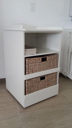 Baby Changing Trolley 1 shelf 2 basket drawers with wheels|Baby Nursery Furniture in Johannesburg South Africa