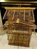 Vintage Bamboo bird cage. Excellent used condition.   Listed on ebay for $95???  I bought mine at Pier One in the late 70s and paid less than $20.  Sold it years later at a yard sale for $10.  Wish I still had it!