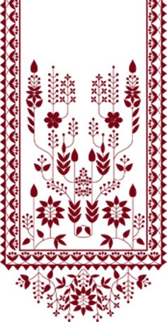 Discover recipes, home ideas, style inspiration and other ideas to try. Border Embroidery Designs, Cutwork Embroidery, Embroidery Patterns Free, Motif Design, Design Elements, Pattern Design, Border Design, Print Design, Textile Prints