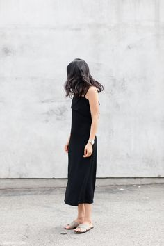 Simple dress with watch
