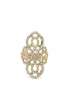 Gold & Black Diamond Rhinestone Statement Ring | Haven Ring | Stella & Dot~ As seen in Redbook Magazine| Fall Preview