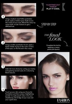 Valentine's Day makeup tutorial. See more at » http://www.fashionmagazine.com/tag/beauty-tutorials/