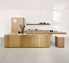 Design elegance meets architecture in this stunning brass finished island combined with a sleek oak cantilever, and oak cabinets at the back to match, creating a modern kitchen with timeless architectural forms⠀ . Furniture Stores Nyc, Buy Furniture Online, Cheap Furniture, Pallet Furniture, Discount Furniture, Kitchen Furniture, Furniture Design, Furniture Movers, Furniture Outlet