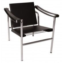 Le Corbusier LC1 Inspired Chair-Black - 100% Italian Leather