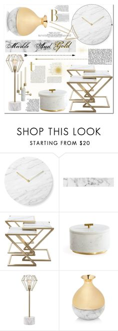 """Marble And Gold"" by esellevee ❤ liked on Polyvore featuring interior, interiors, interior design, home, home decor, interior decorating, Menu, Hawkins, JAlexander and ANNA by RabLabs"