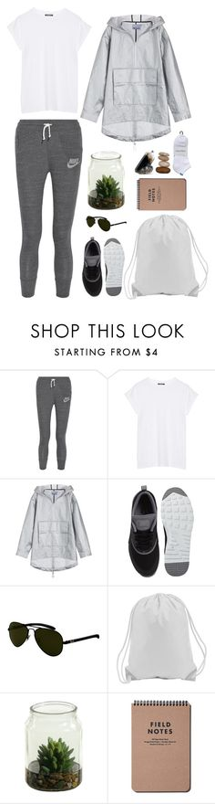 """""""What Would You Wear on an Adventure?"""" by pinkandgoldsparkles ❤ liked on Polyvore featuring NIKE, Balmain, T By Alexander Wang, Ray-Ban and Calvin Klein"""