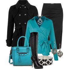 """Black and Blue"" by stylesbyjoey on Polyvore"