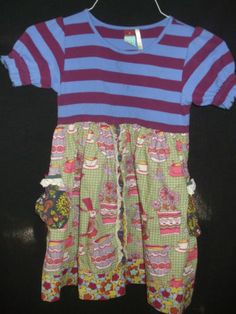 Matilda Jane Character Counts Maggie at Tea Dress Girls Size 8 Matilda Jane