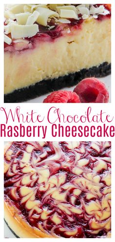 White Chocolate Raspberry Cheesecake - Baker by Nature Easy Desserts, Delicious Desserts, Dessert Recipes, Yummy Food, White Chocolate Rasberry Cheesecake, Cheesecake Recipes, Small Cheesecake Recipe, Homemade Cheesecake, Raspberry Recipes