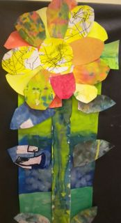 """The art of collage. A project based on the book: """"The Tiny Seed"""" by Eric Carle)"""
