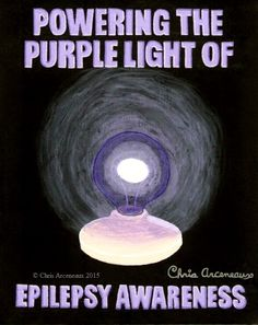 Painting #6 of the Purple Power series SHINING THE PURPLE LIGHT OF EPILEPSY AWARENESS.  #EPILEPSY #AWARENESS