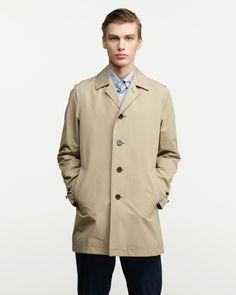 THE SUIT COMPANY MEN ベージュ ポリエステル&コットンステンカラーコート Beige Coat, Raincoat, Suit Company, Glamour, Mens Fashion, Jackets, Beige Trench Coat, Rain Jacket, Moda Masculina