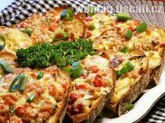 Czech Recipes, Tasty, Yummy Food, Appetisers, Gluten, Bread Baking, Vegetable Pizza, Hamburger, Sandwiches
