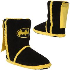 Batman Caped Slipper Boots $24.50@hollyjean90 OMG holly im ash totally said she would get me some hehe