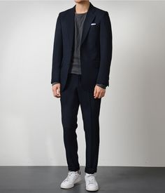 Death By Elocution Blazer Outfits Men, Stylish Mens Outfits, Casual Outfits, Men Casual, Fashion Outfits, Korean Fashion Men, Mens Fashion, Stan Smith Outfit, Business Dress